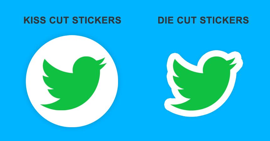Die Cut Stickers VS Kiss Cut Stickers