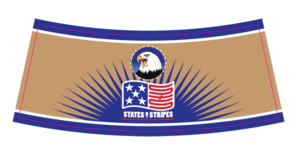 beer bottle neck label printing-States-and-Stripes